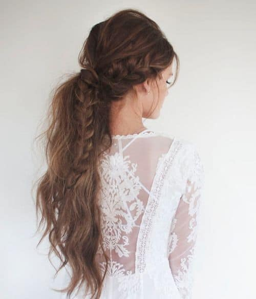 Loose Messy Braided Ponytail