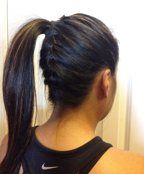 Underside braid with a ponytail