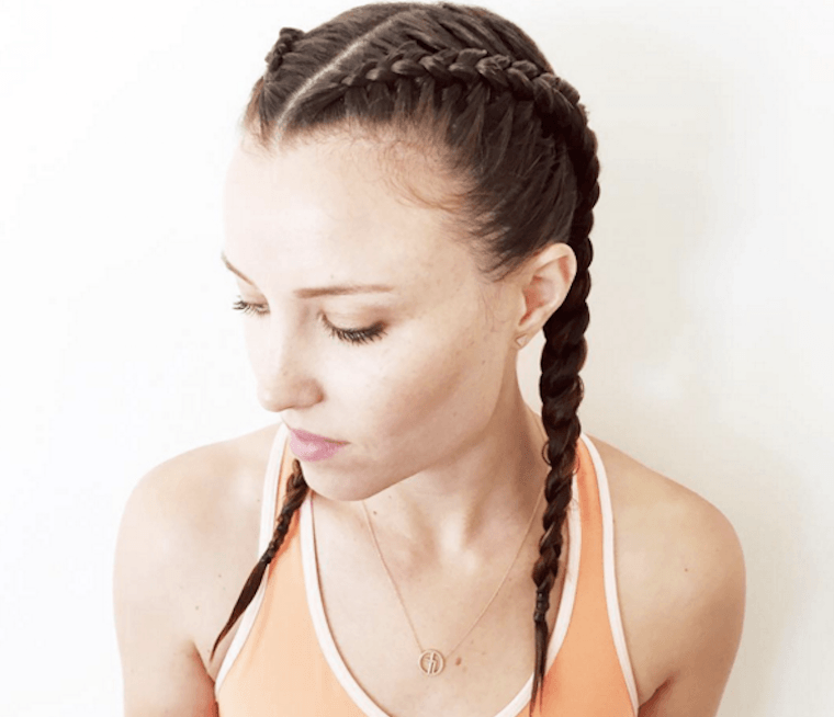 Boxer Hair braid ponytail