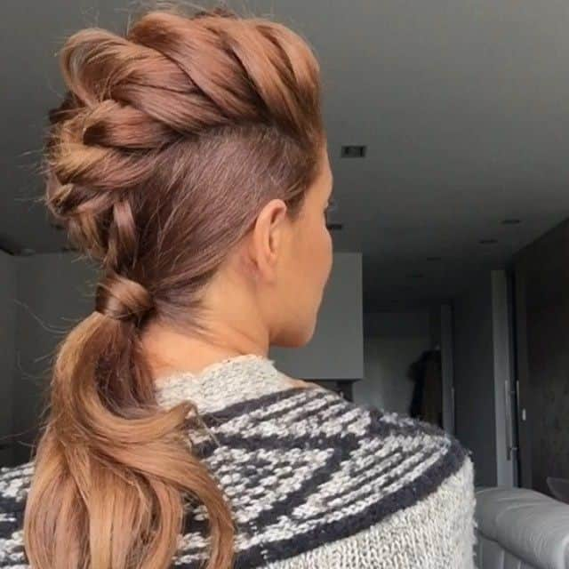 Dutch Mohawk Ponytail