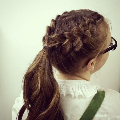 Two Braids One ponytail