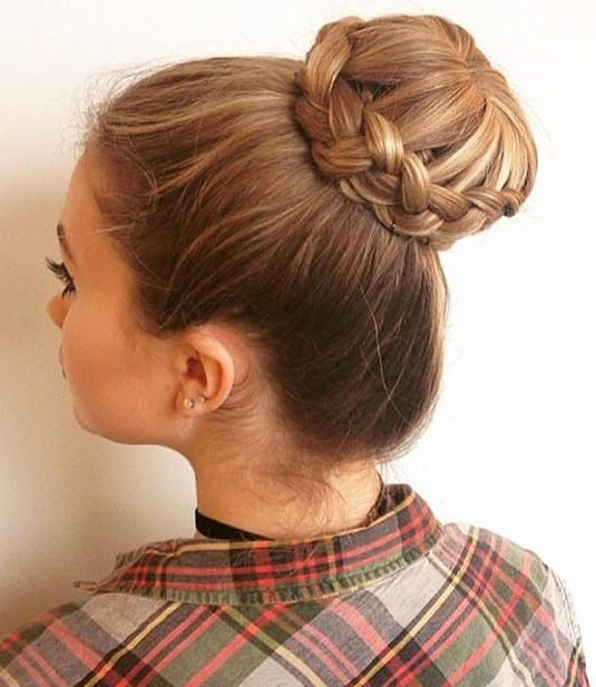 27. Braided Hairband Updo