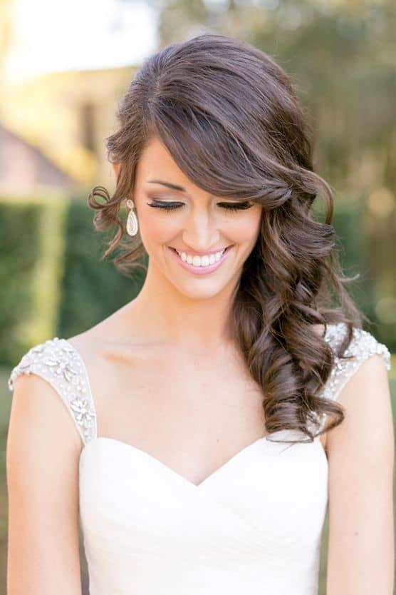 29 Bridal Hairstyles For Short Medium Curly Hairs 2018