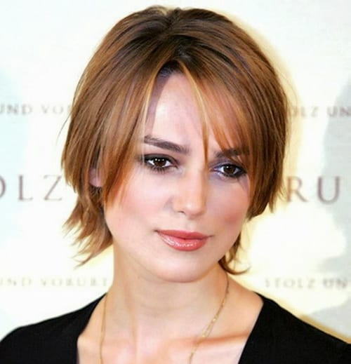 29 Short Hairstyles For Round Faces Women 2018