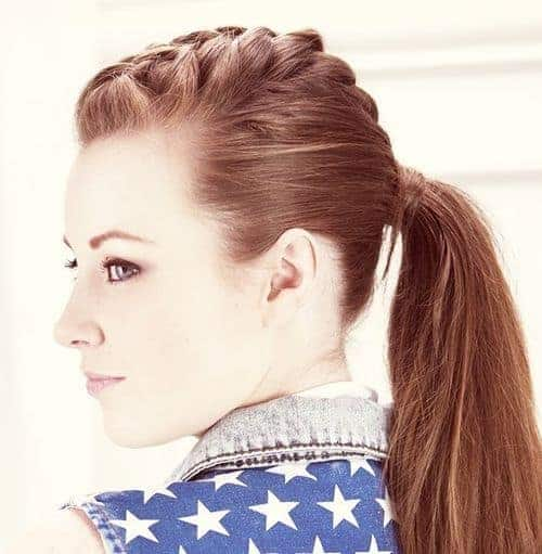 Braid with Punky Ponytail