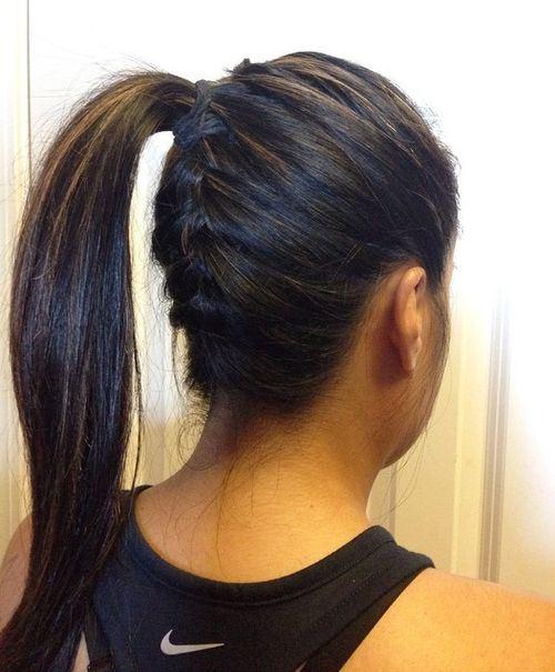 Underside braid with a ponytail