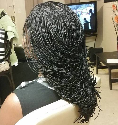 Waterfall Micro Braids