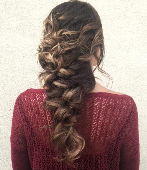 Messy Curly Mermaid Hairstyles