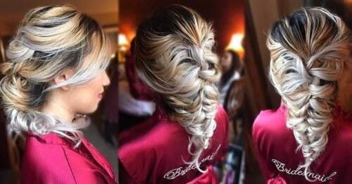 Interwoven Hairstyle For Medium Length Hair