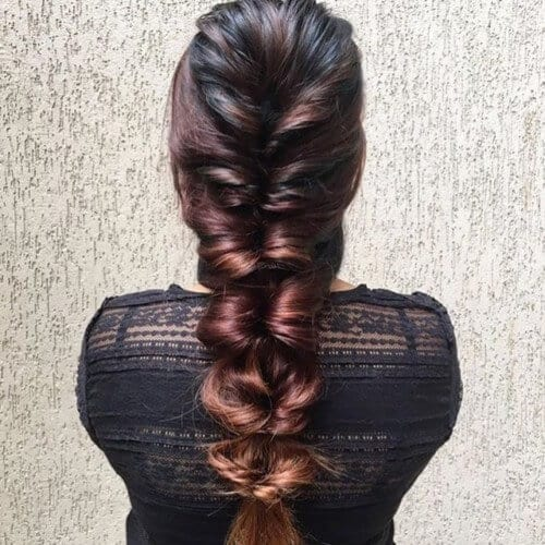 Folded Mermaid Hairstyle