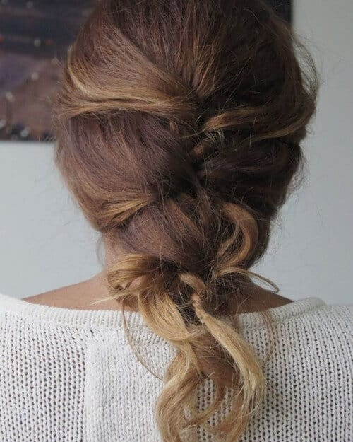 Tight thick mermaid braid hairstyle