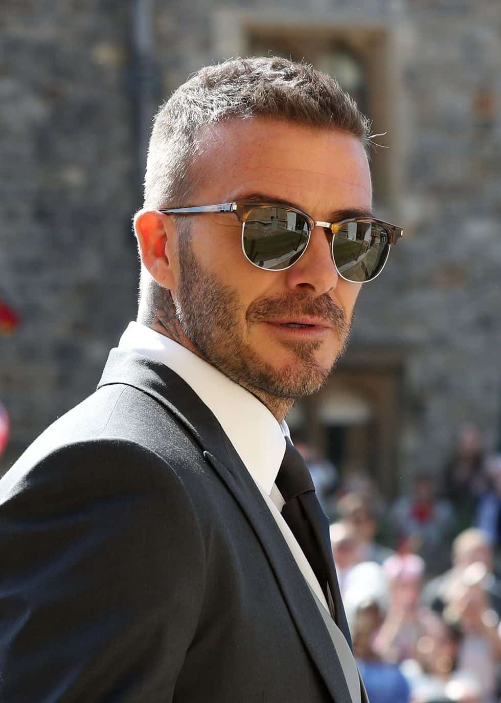 David Beckham Walked Into The Royal Wedding With A Classic Hairstyle
