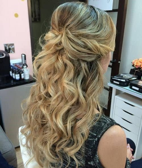 14893 Half-Up Half-Down Hairstyles For Wedding, Prom etc Video Added