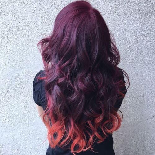 Burgundy Hair for long hair
