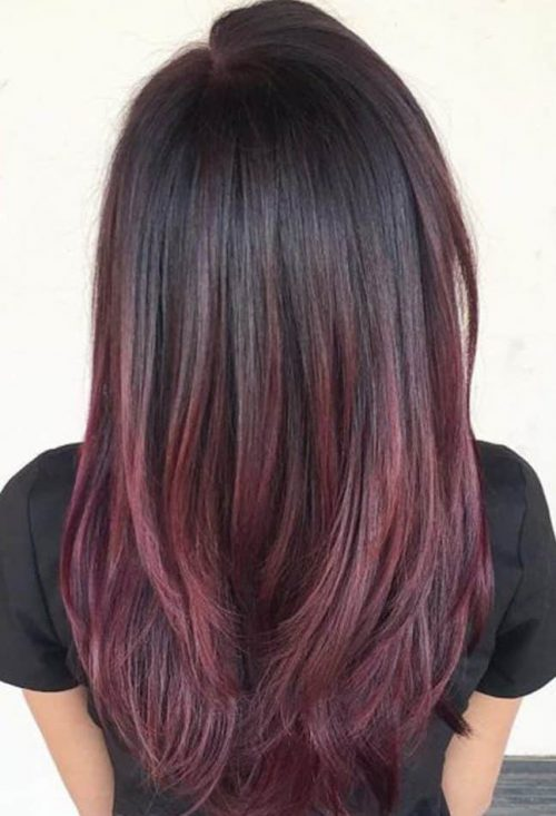 34 Elegant Burgundy Hair Ideas For Straight Waves Curls