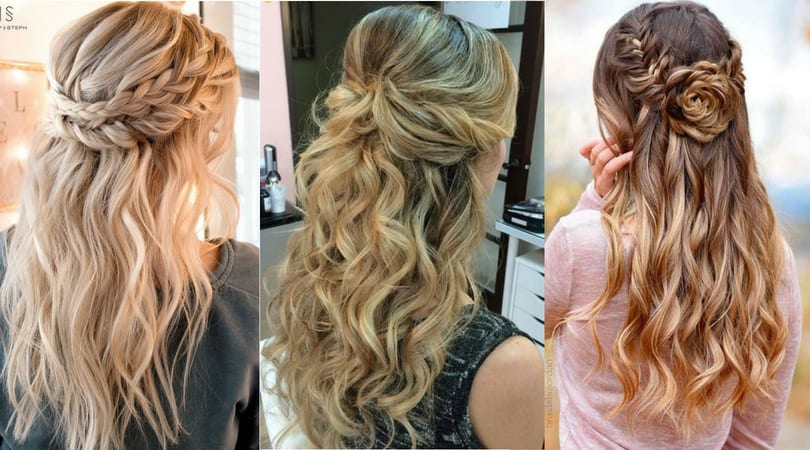 14893 Half-Up Half-Down Hairstyles For Wedding, Prom Etc