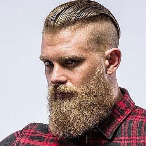 Slick Back With Disconnected Undercut viking