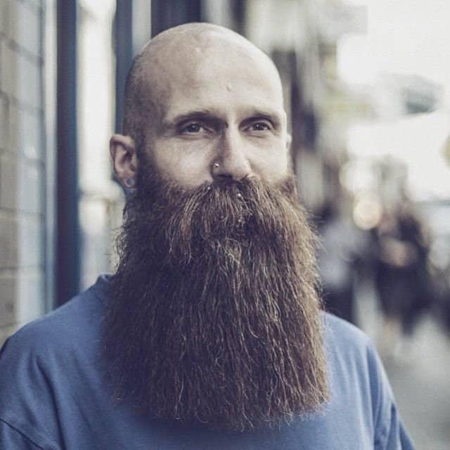 Bald with Medium Blunt Beard