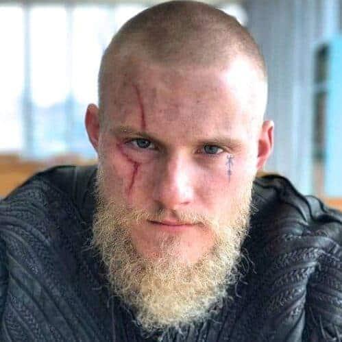 Viking Buzz Cut with Blonde Beard